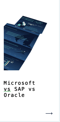 anegis microsoft vs oracle vs sap