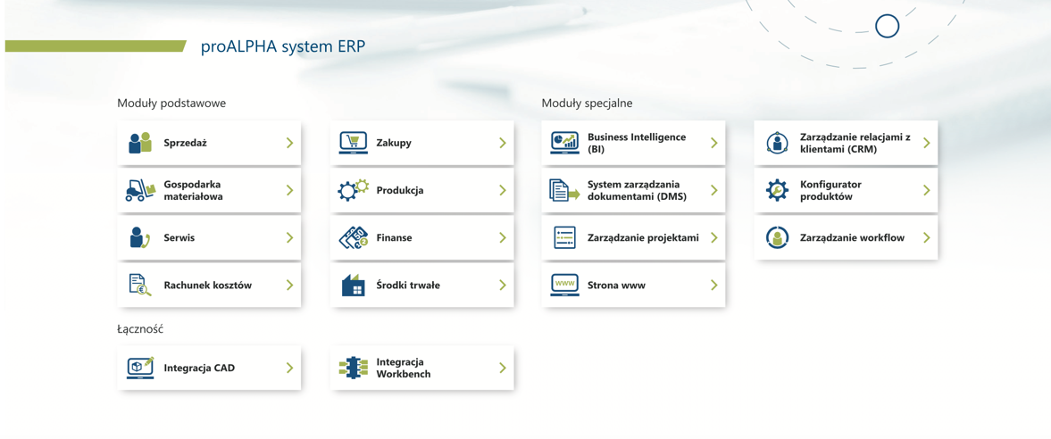 proalpha moduly podstawowe systemui erp